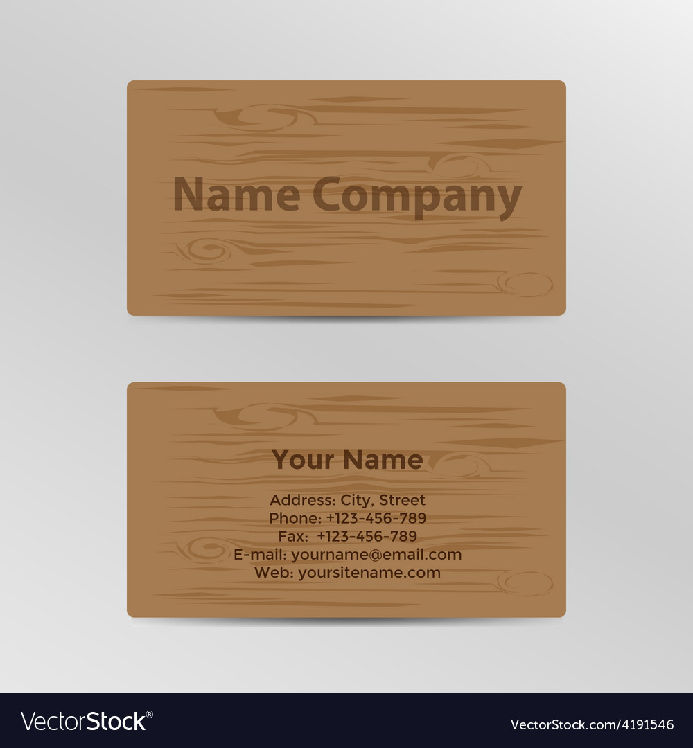 Business card with wood texture royalty free vector image business card with wood texture vector image colourmoves