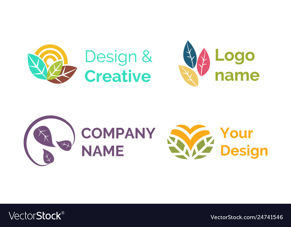 Design creative logo name brand company icon