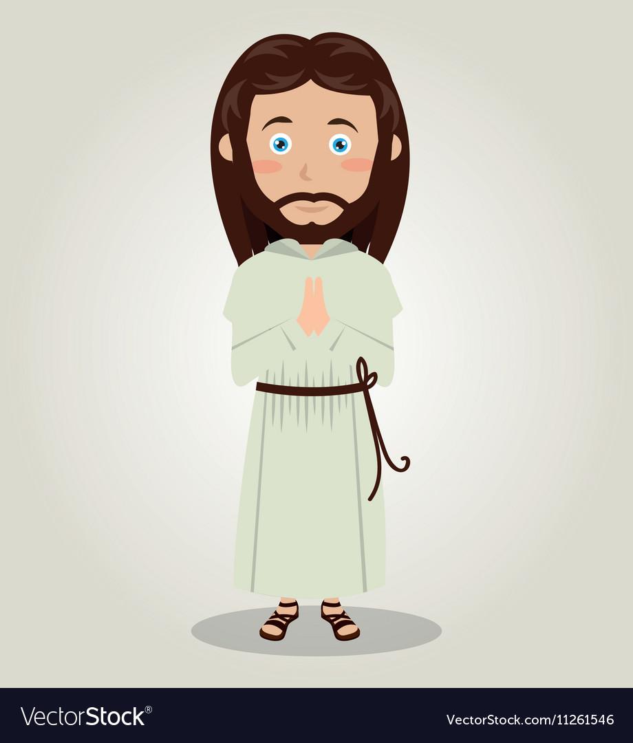 Jesus christ pray design isolated