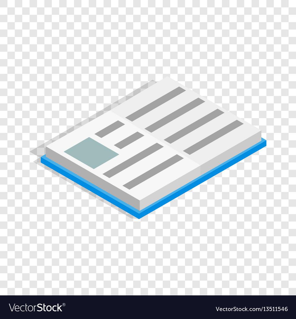 School book isometric icon
