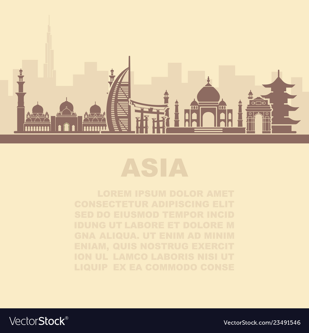 The layout of the leaflets with the sights asia