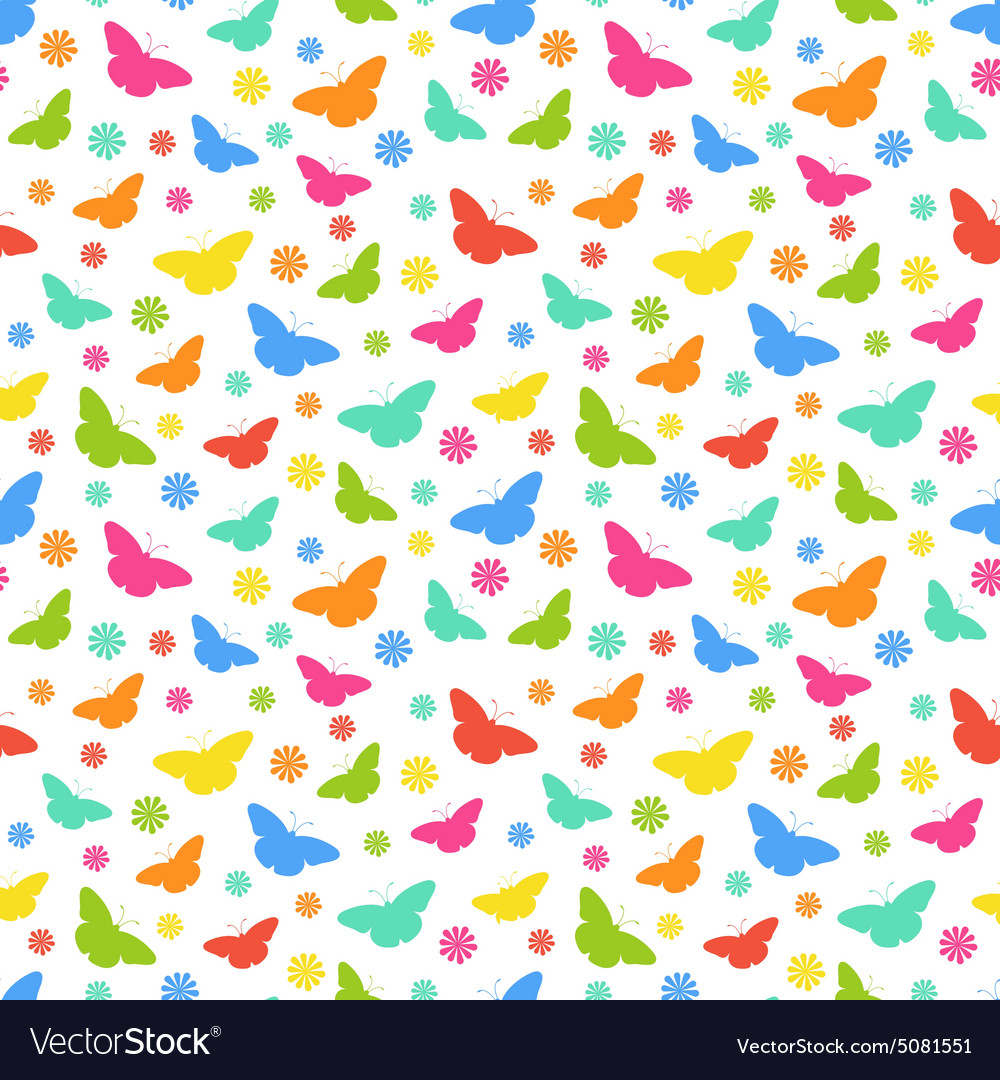 Butterflie pattern vector image