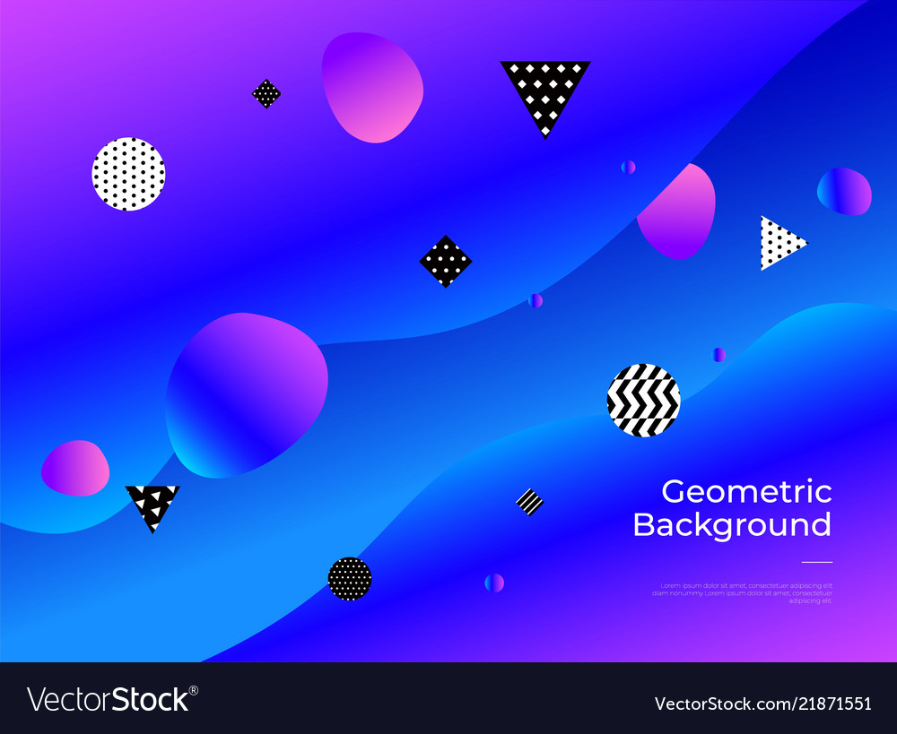 Colorful abstract geometric background gradient