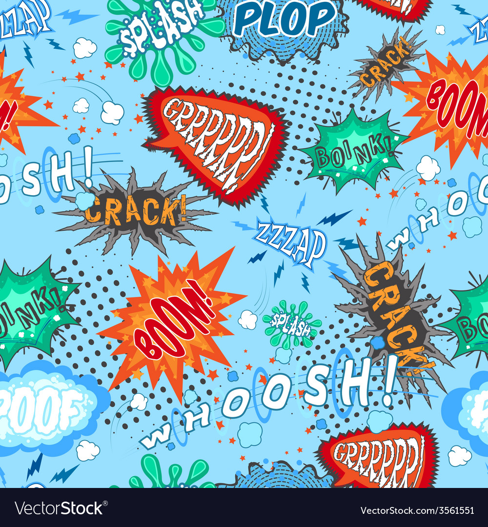 Comic Chat Seamless Pattern vector image
