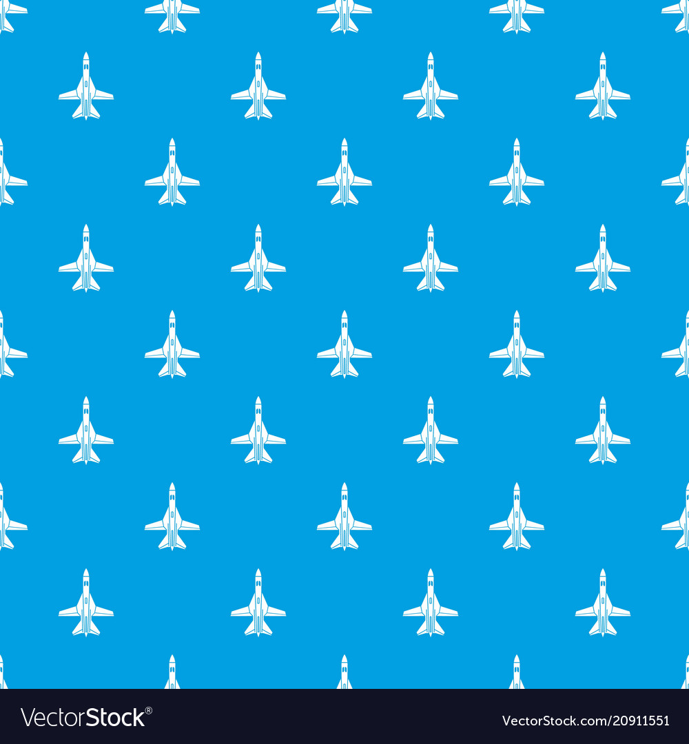 Commercial plane pattern seamless blue