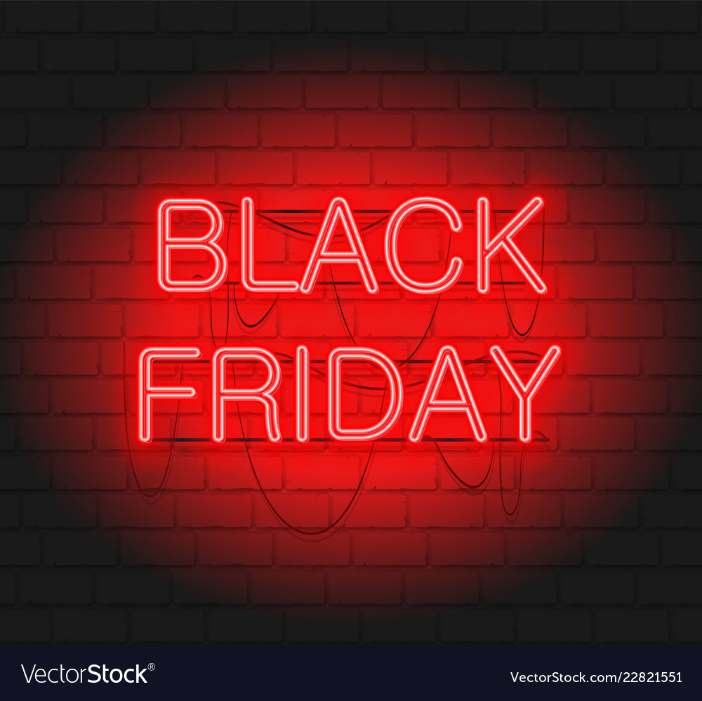 Dark web banner for black friday sale modern neon