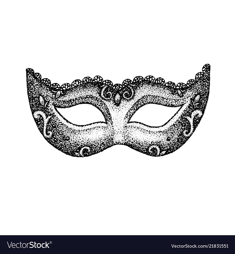 Dotwork vintage mask