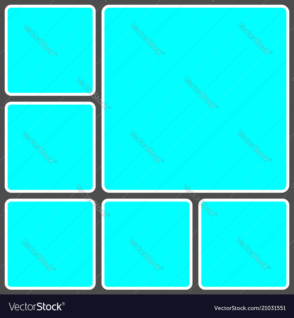 Geometric frame template for photo collage