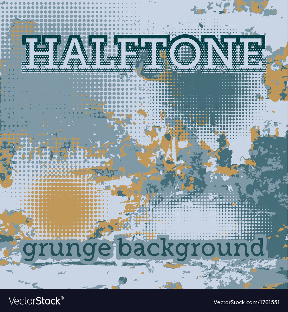 Halftones on the grunge background