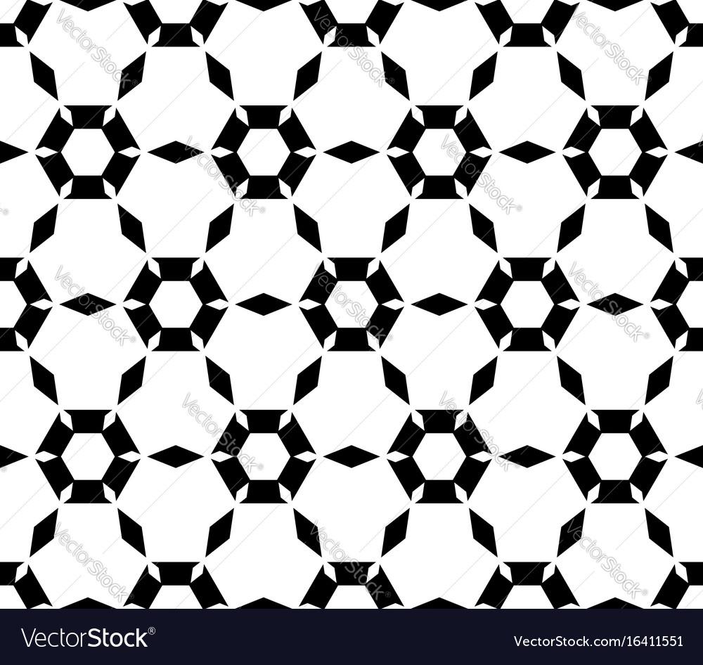 Simple black white hexagonal pattern