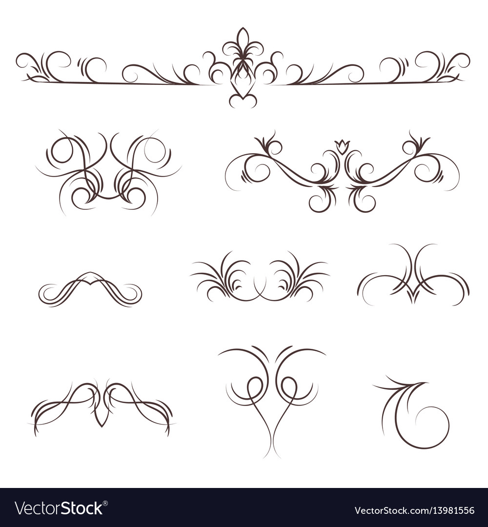 A collection of decorative monograms and a