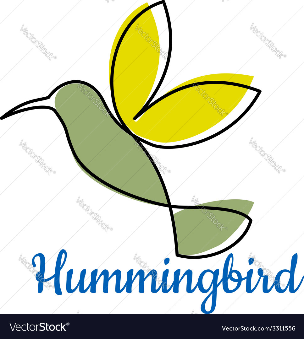 Abstract outline hummingbird symbol