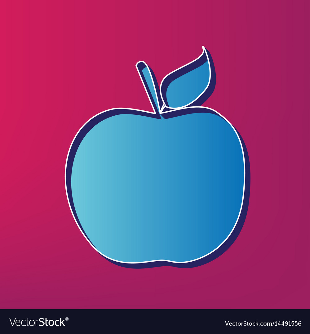apple sign blue 3d printed royalty free vector image