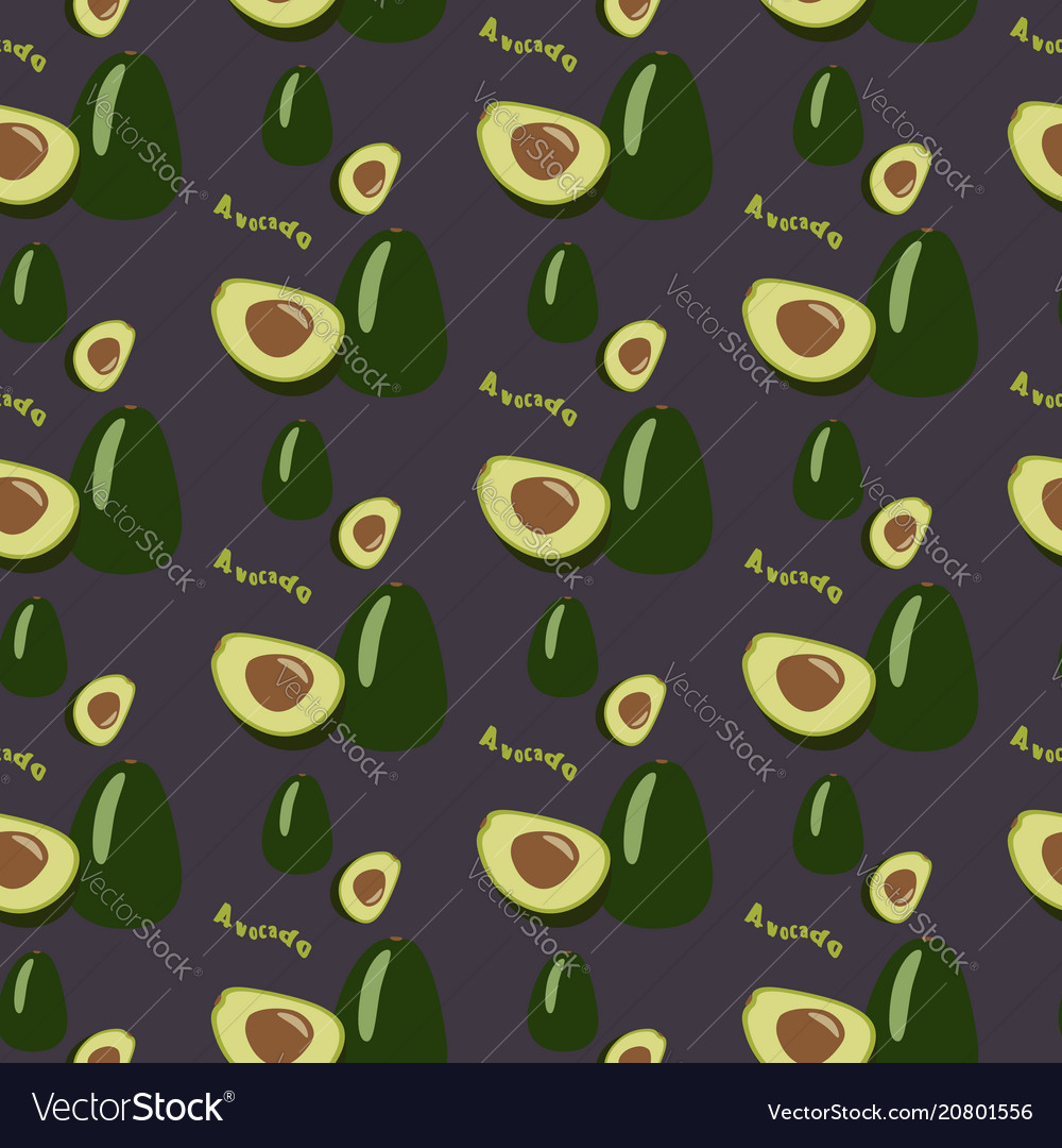 Avocado seamless repeating pattern hand drawn