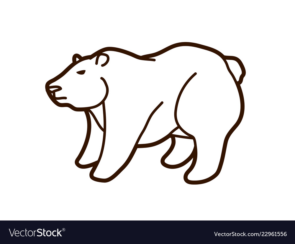 Big bear standing cartoon graphic