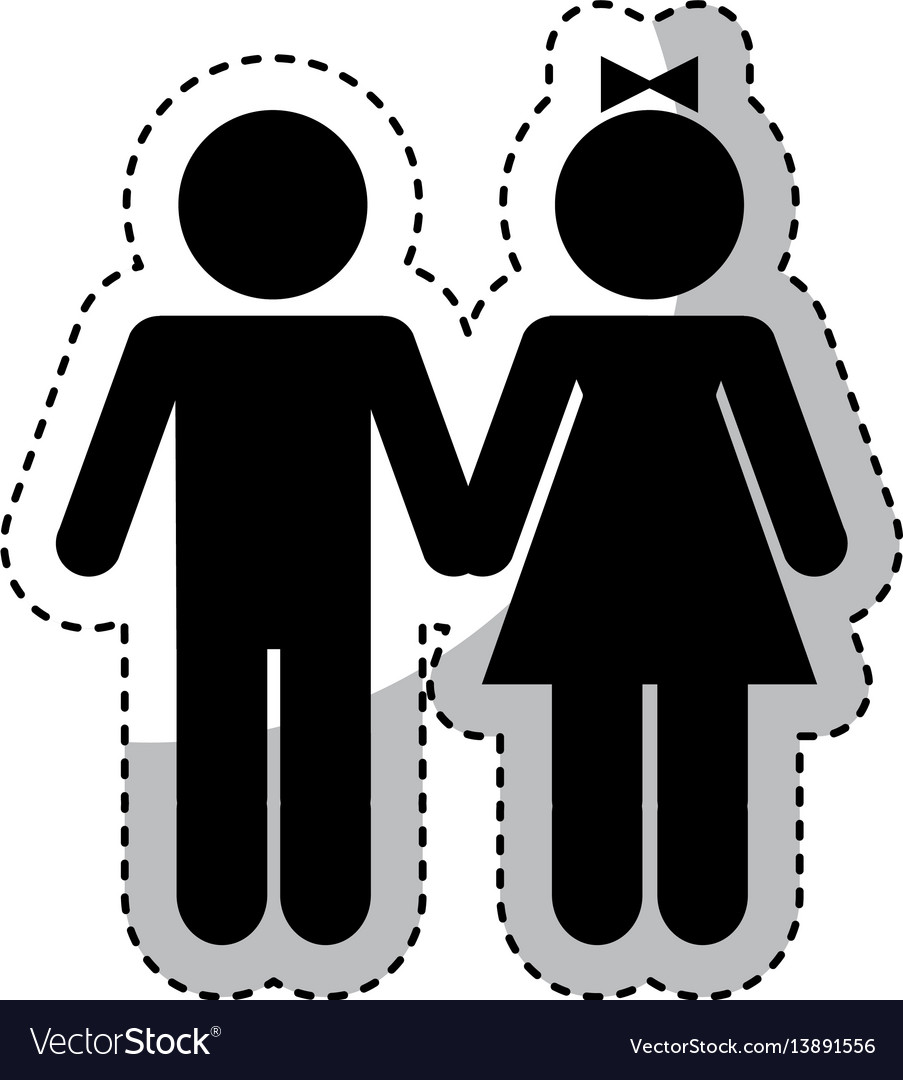 Couple figure silhouette icon