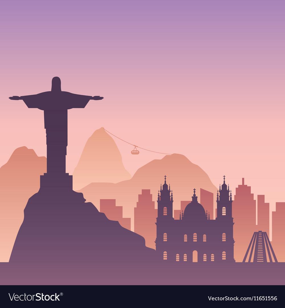 Famous city scape in color