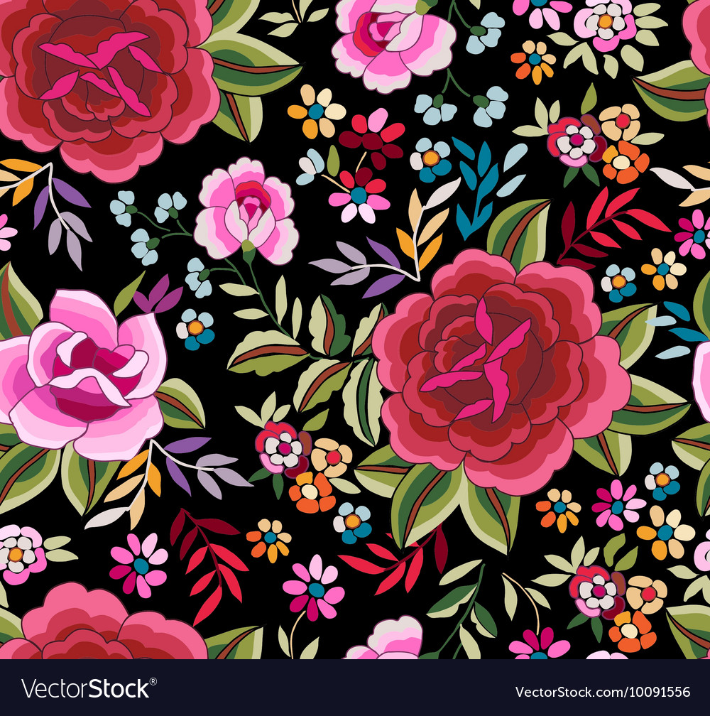 Flamenco print - seamless background vector image