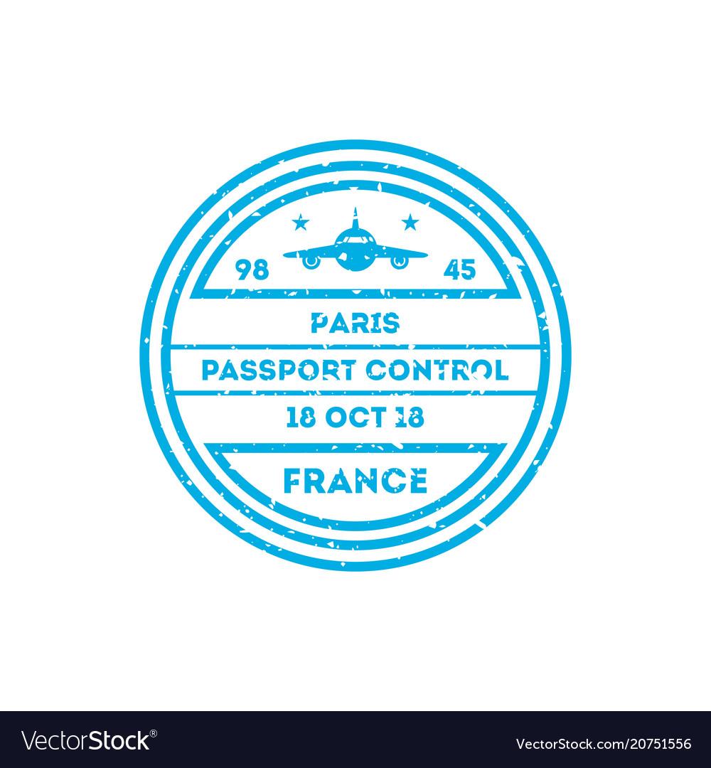 France country visa stamp on passport