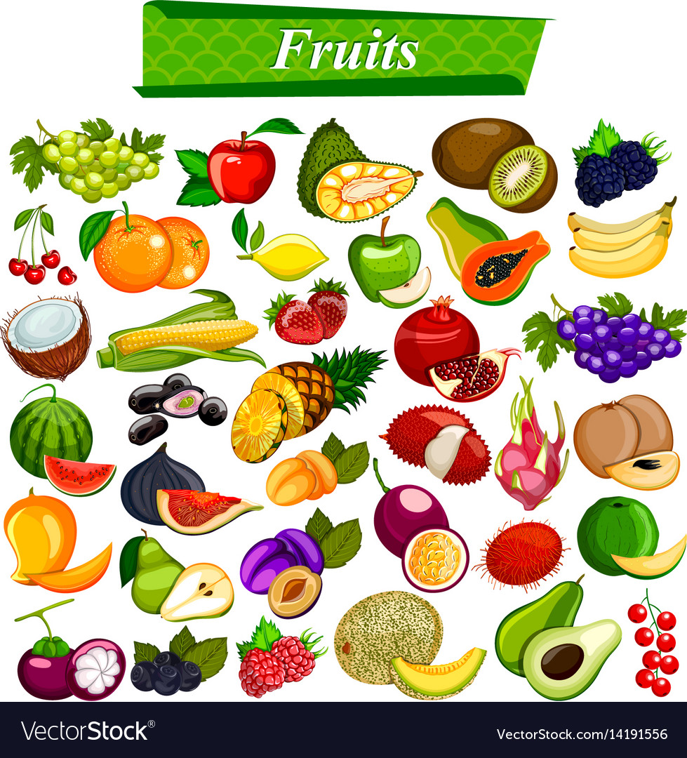 Fresh and nutritious fruit set including apple
