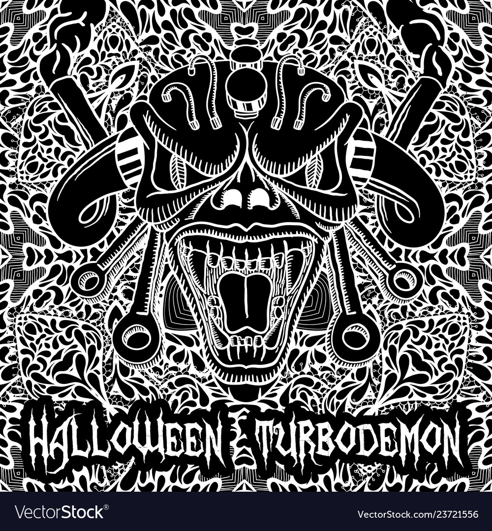 Monochrome halloween turbodemon poster