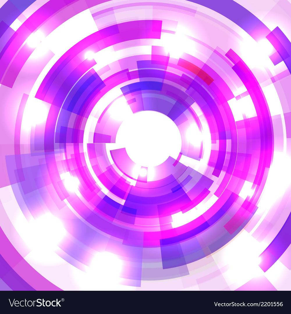 Shining blue circle tunnel vector image