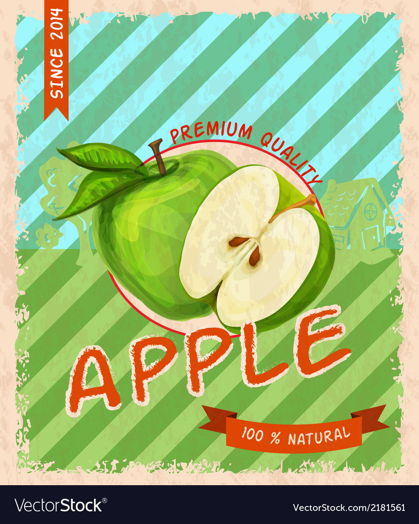 Apple retro poster