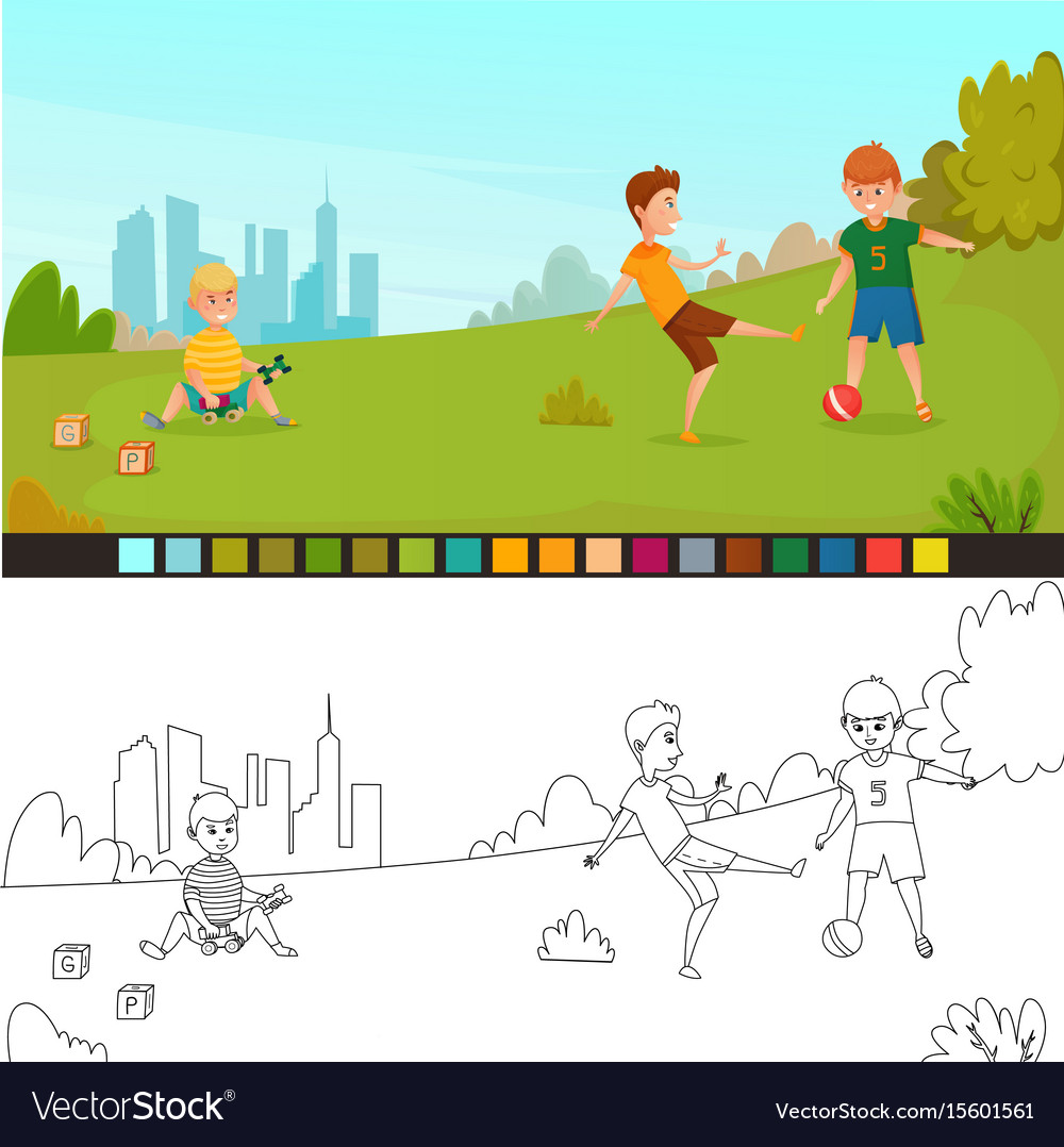 Playground, Coloring & Page Vector Images (34)