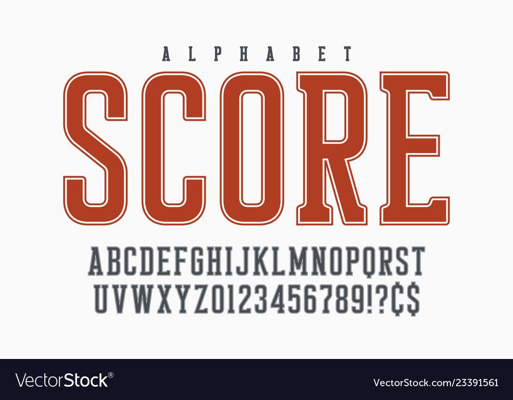 Cool retro design of alphabet typeface