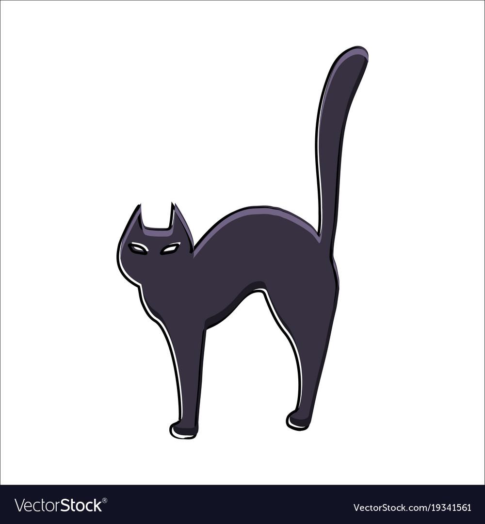 halloween cat royalty free vector image - vectorstock