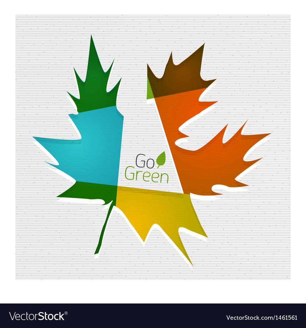 Leaf On Paper Template