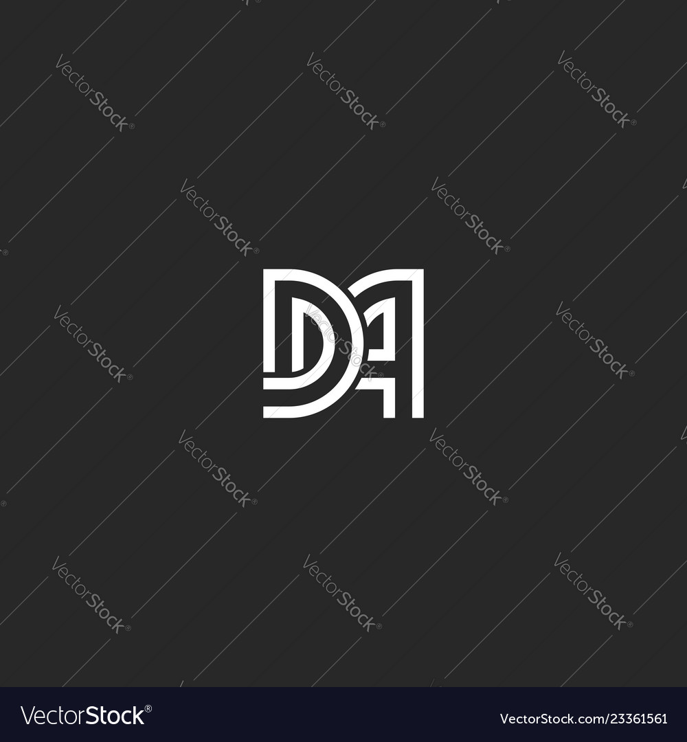 Two letters monogram logo da or ad initials