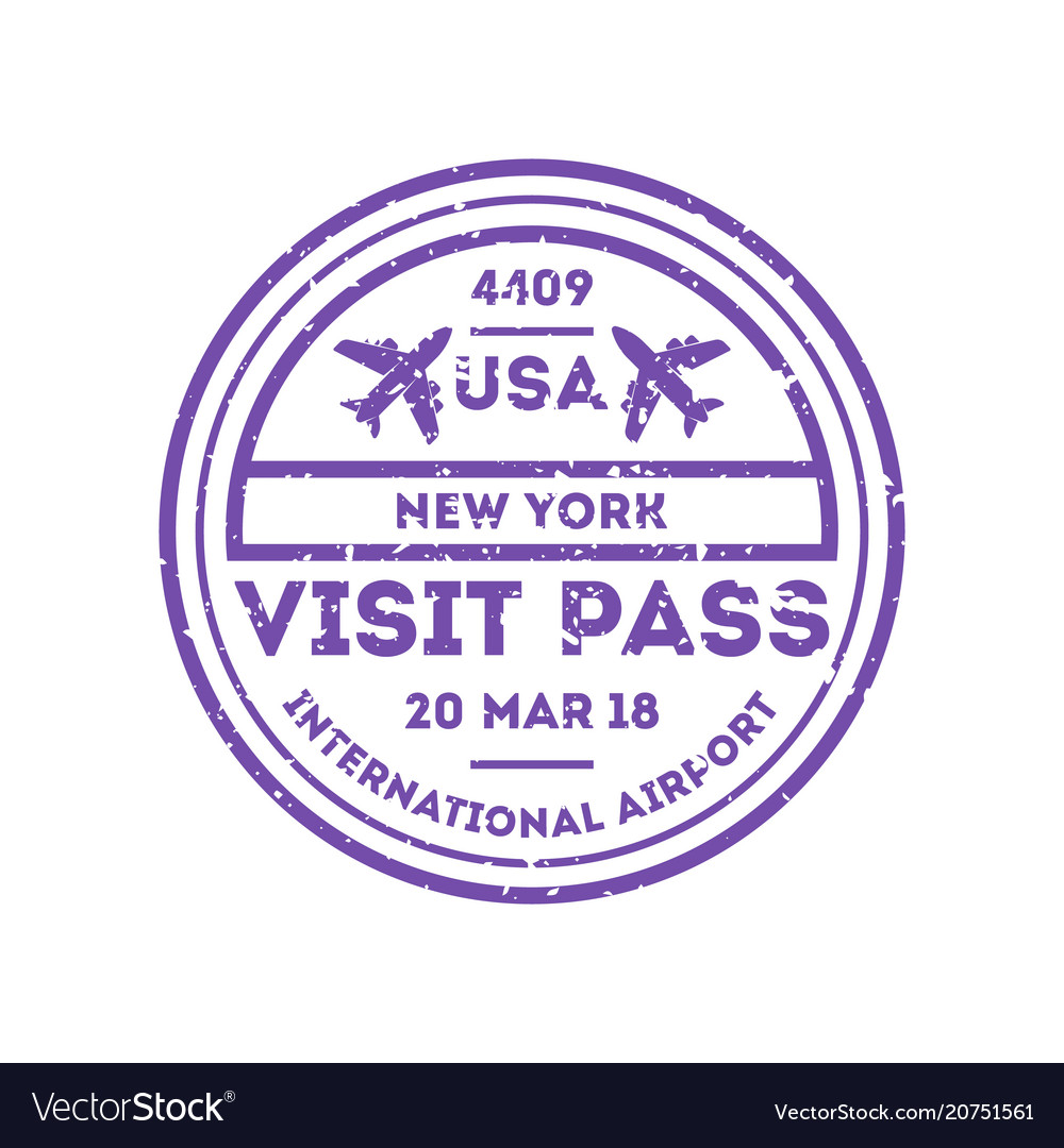 Usa country visa stamp on passport