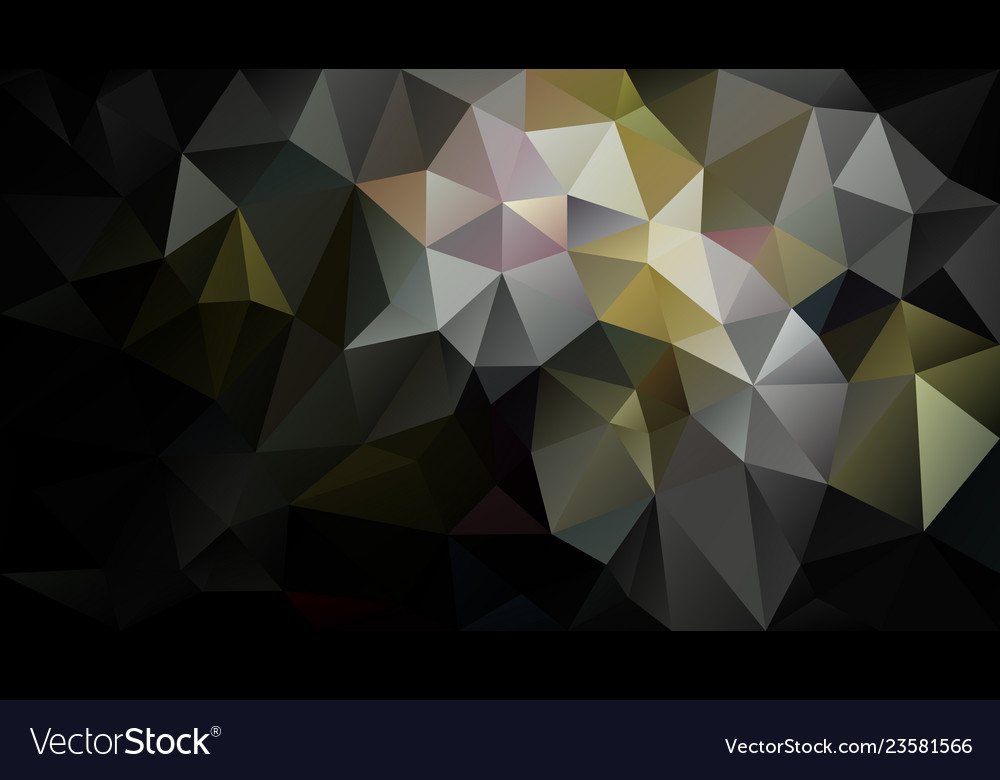 Abstract Irregular Polygon Background Black Gold
