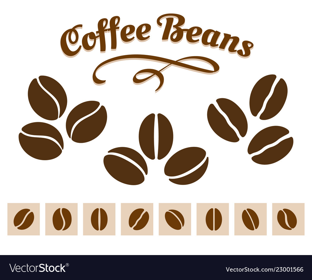Coffee beans set
