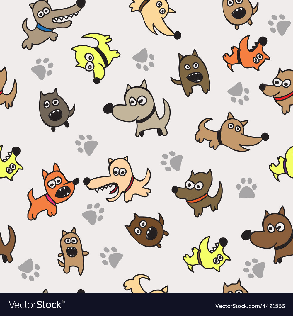 Cute dog seamless background