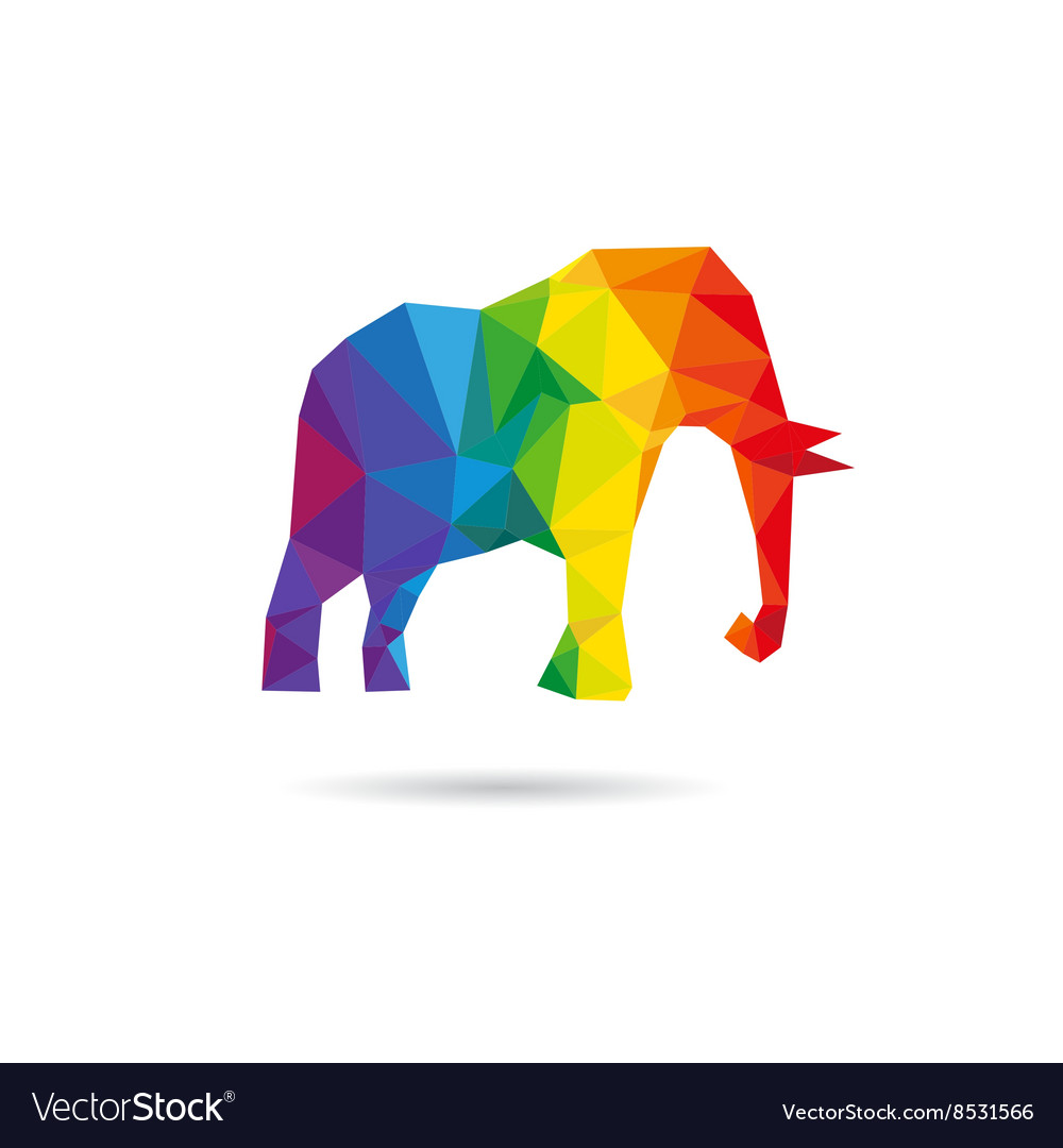 Elephant abstract triangle design