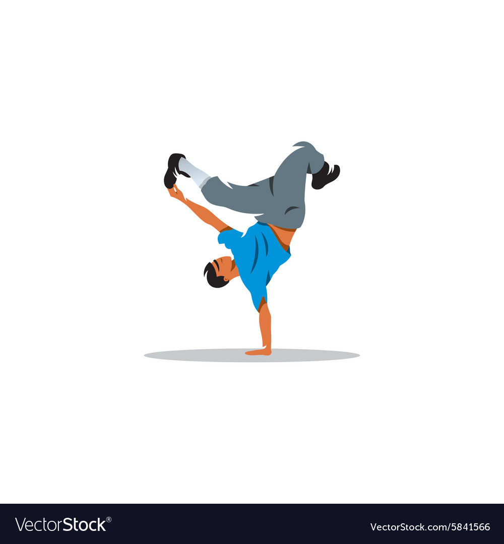 One hip hop acrobatic break dancer breakdancing