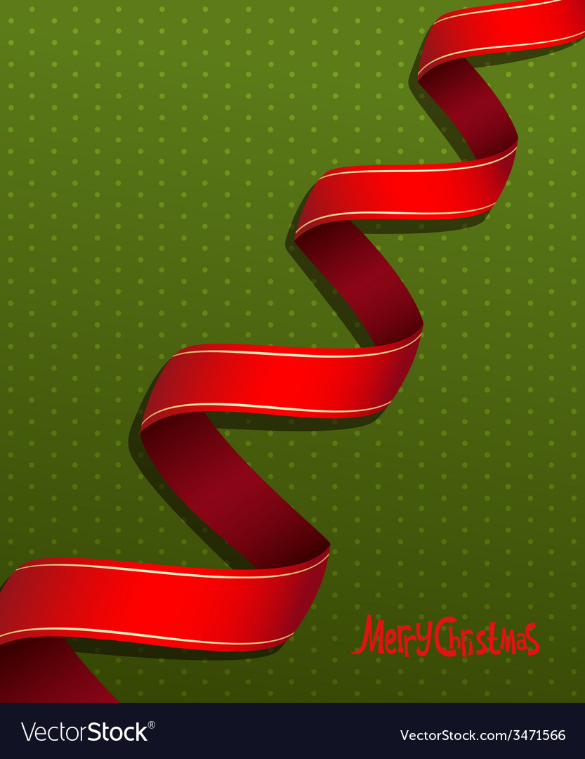 Red ribbon for Christmas