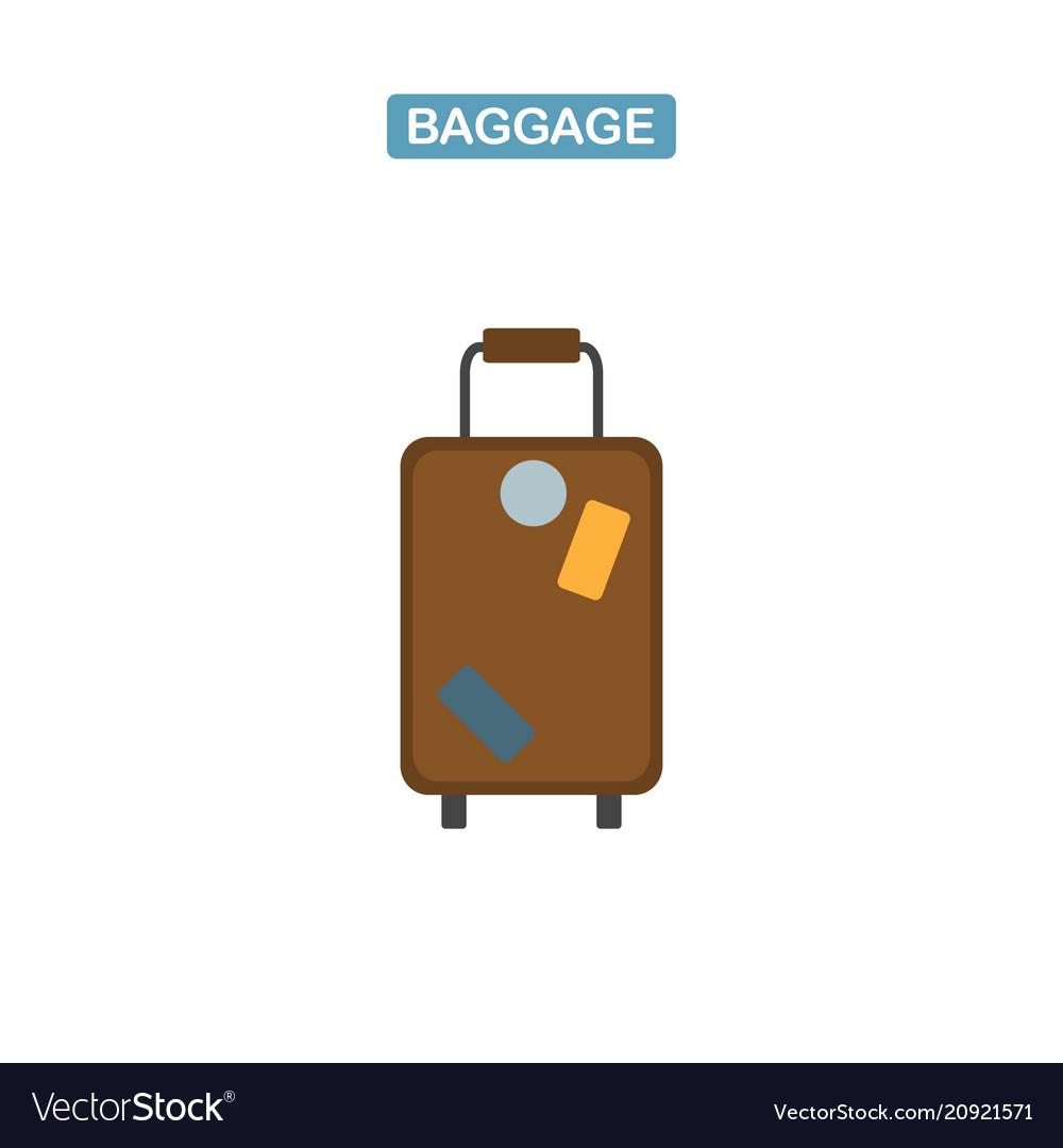 Baggage bag icon