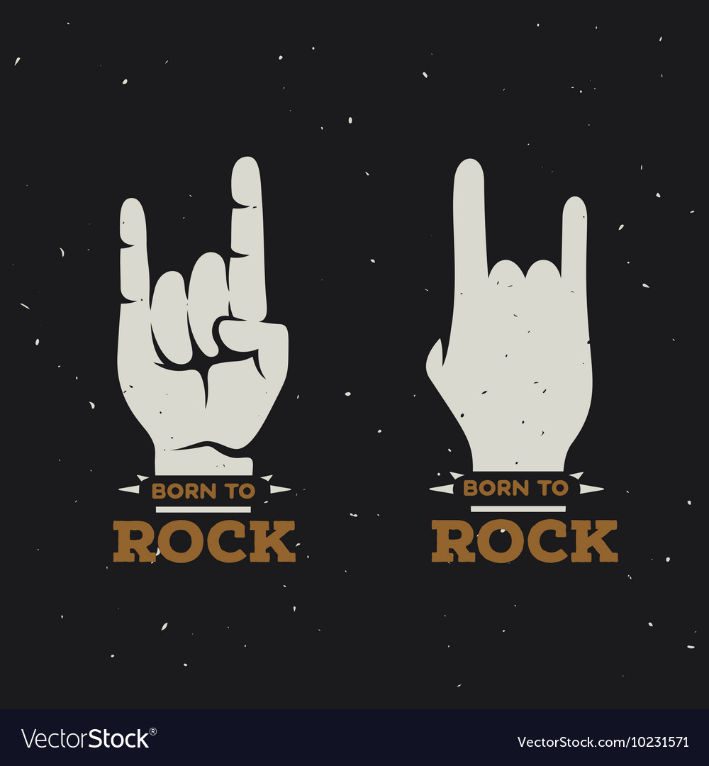 Born to rock vintage poster vector image