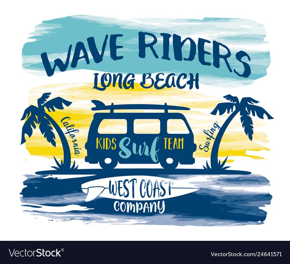 California long beach kids surfing team