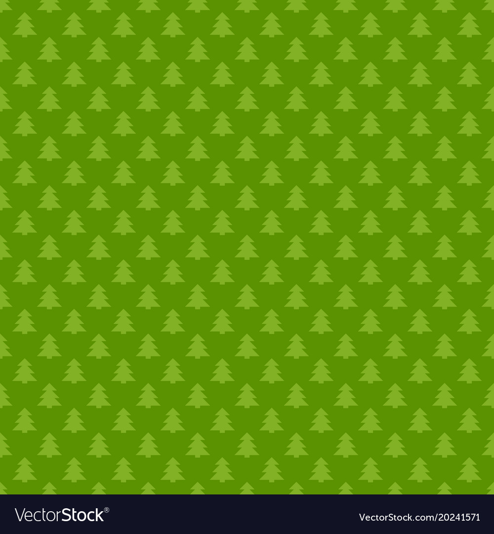 Green seamless retro stylized pine tree forest vector image