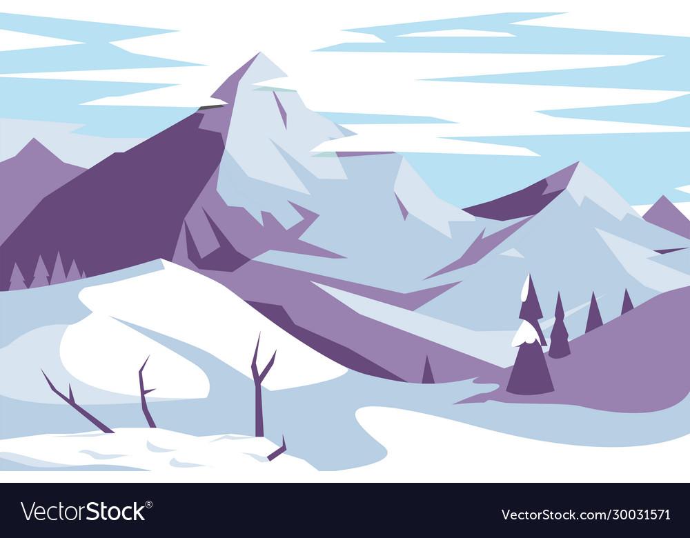 Picturesque mountains landscape
