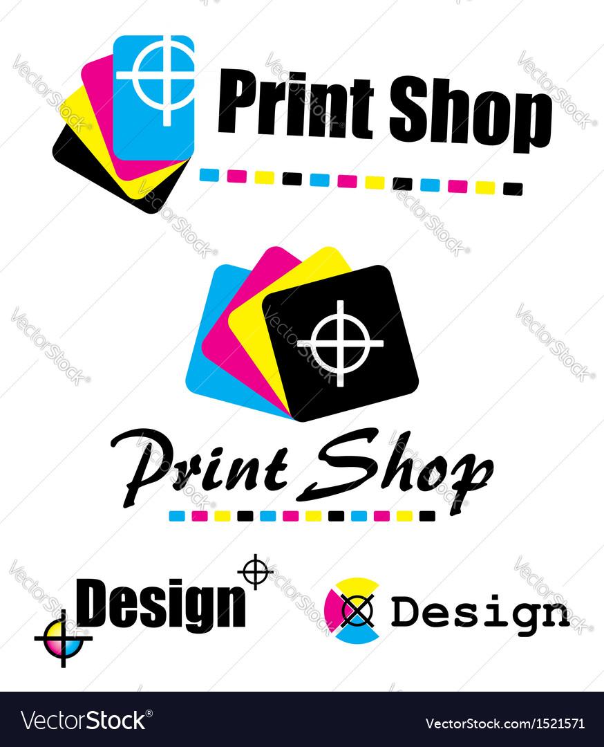 Set of CMYK designs vector image