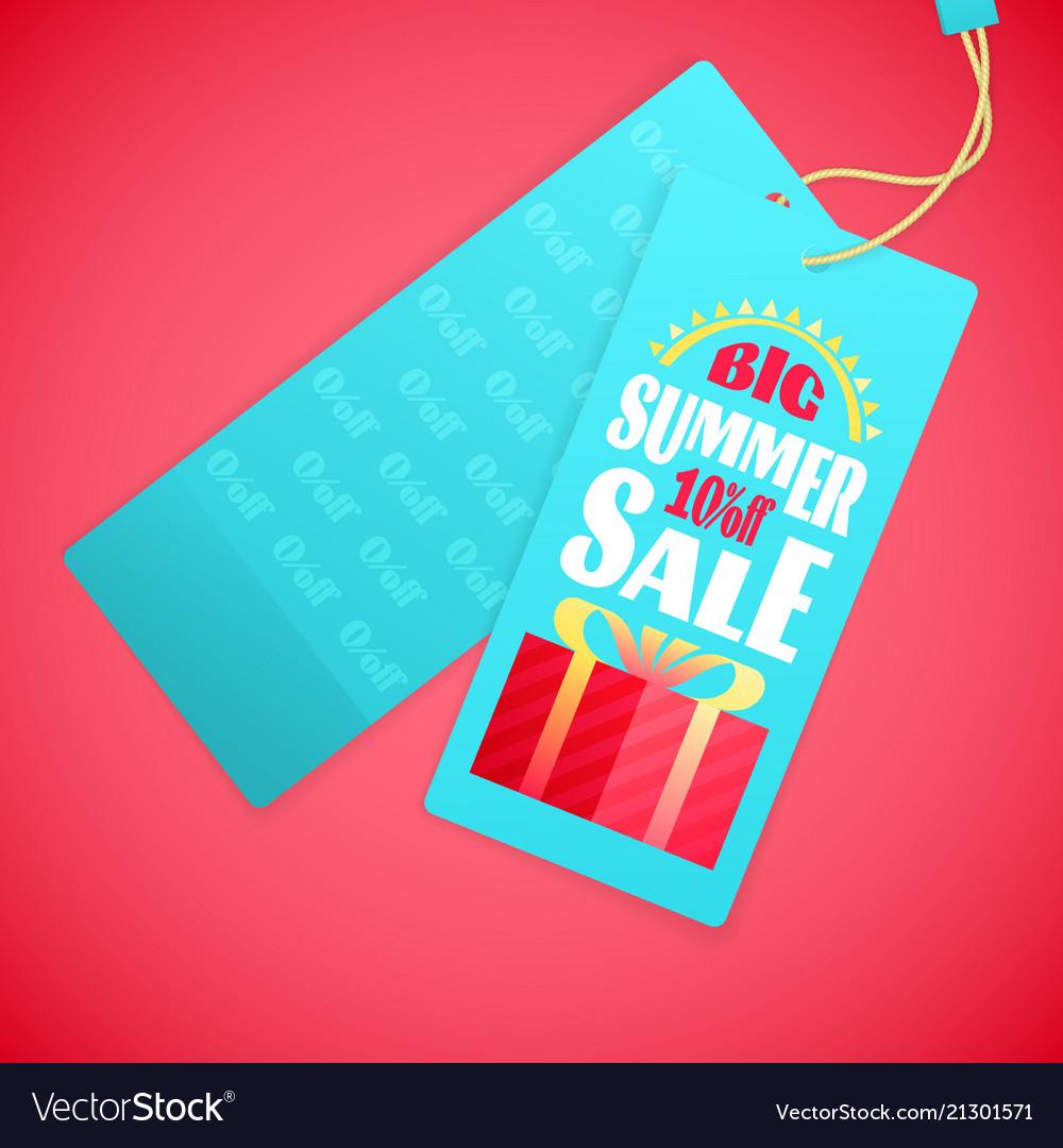 Summer sale letters design template sun gift box