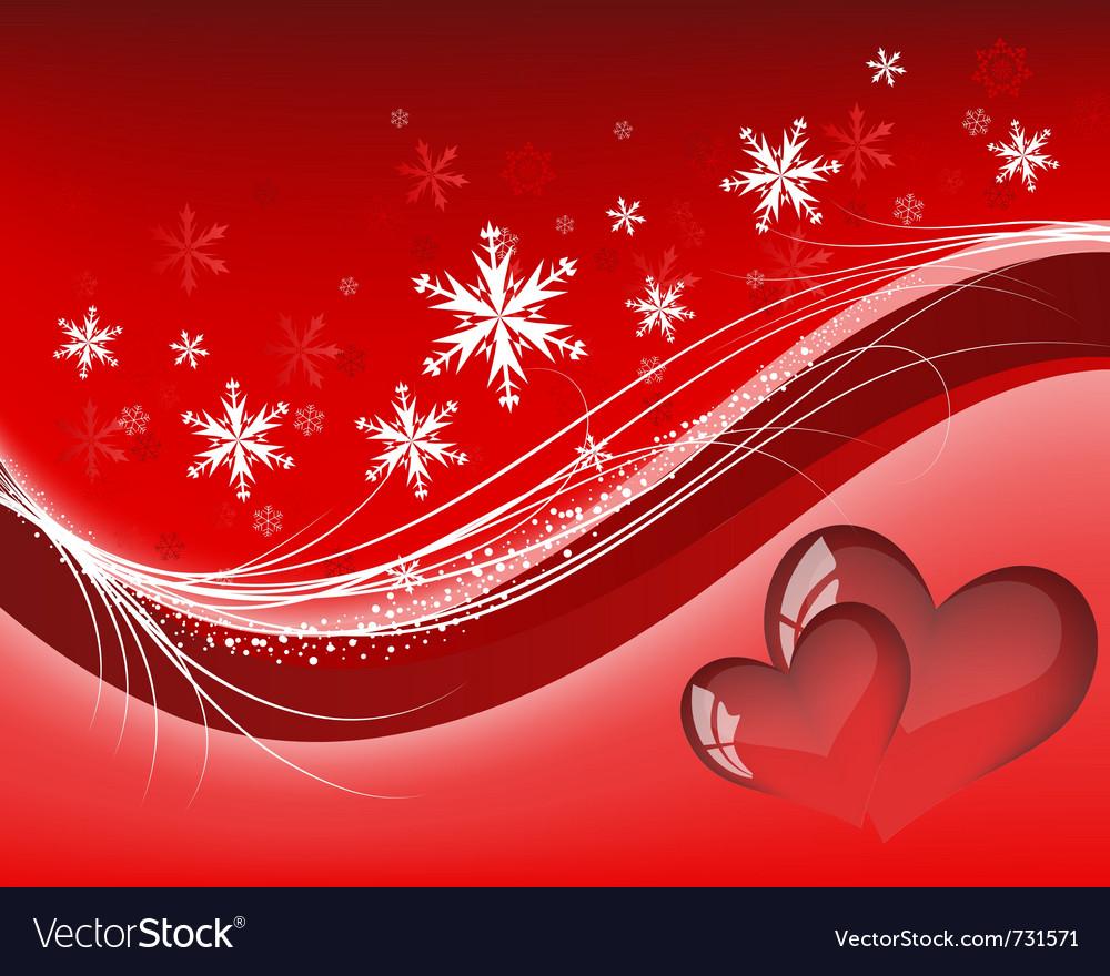 Valentines day background frame vector image