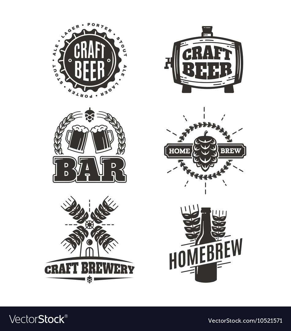 Vintage craft beer logos