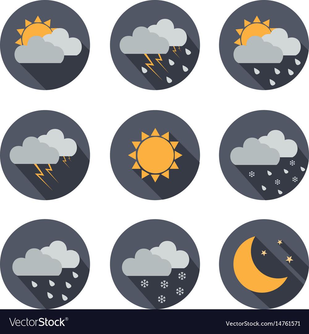 Weather icons flat design