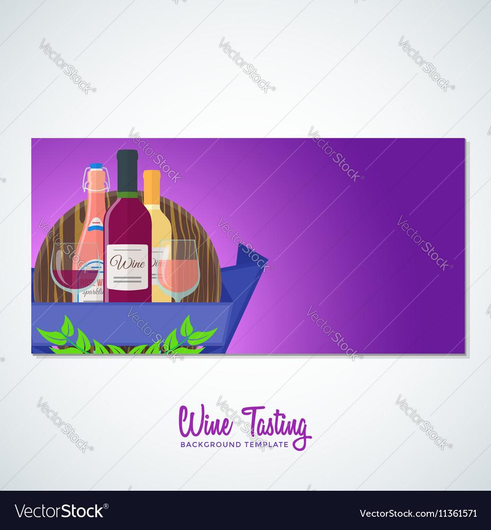 Wine flyer banner backdrop template